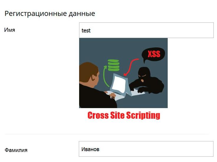 Результаты кода XSS Bitrix