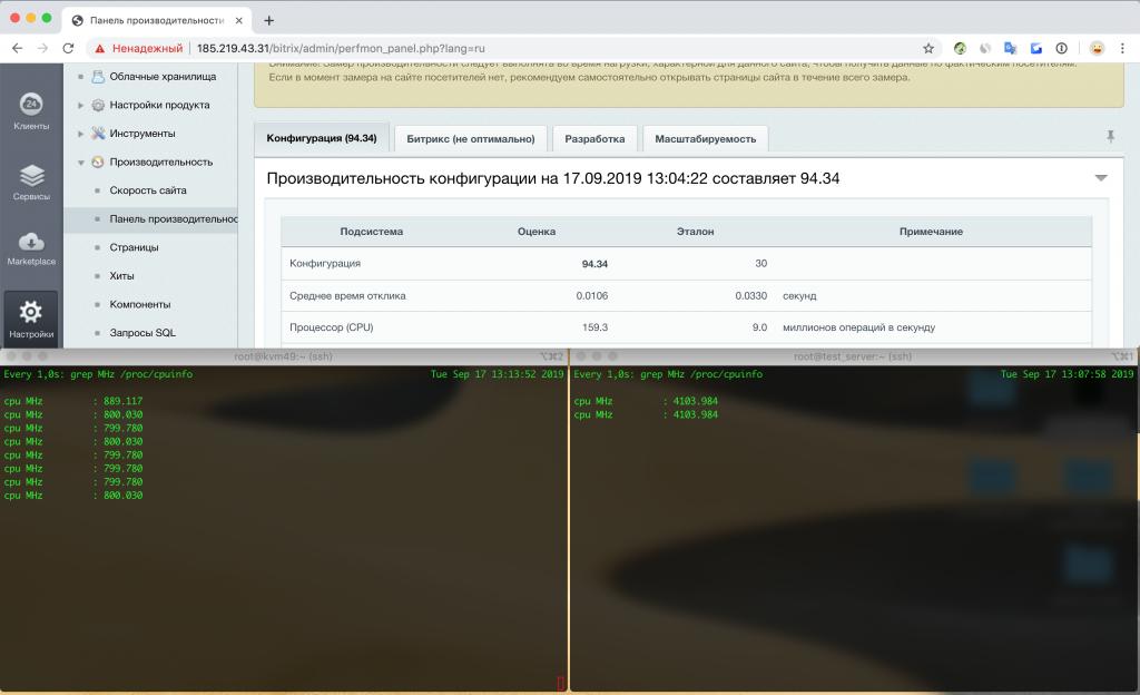 Тестирование VPS с выключенной функцией «Turbo Boost»